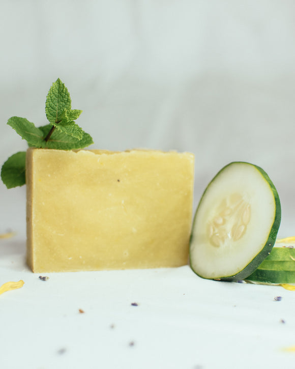 Cucumber and Spearmint Soap - Simple Bare Necessities
