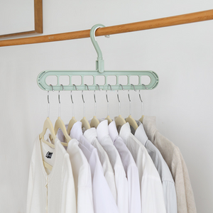 Multi-functional Cloth Hanger Balcony Wardrobe Store Rotating Non-slip Drying Racks - Green