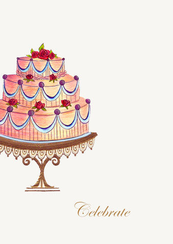 Celebrate Cake • 5x7 Greeting Card