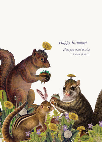 Happy Birthday! Hope you spend it w/a bunch of nuts  • 5x7 Greeting Card