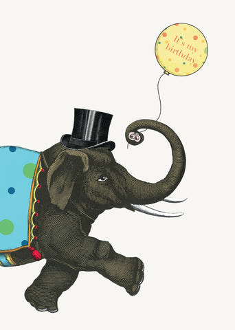 It's My Birthday Elephant • 5x7 Greeting Card