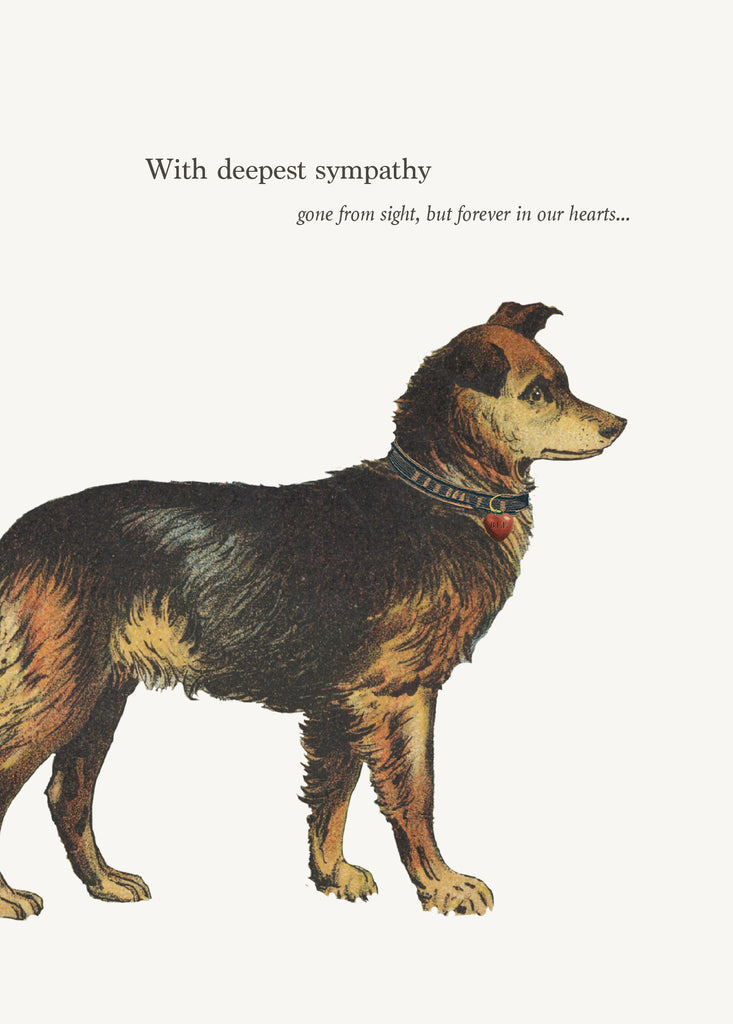 With Deepest Sympathy - Dog • 5x7 Greeting Card