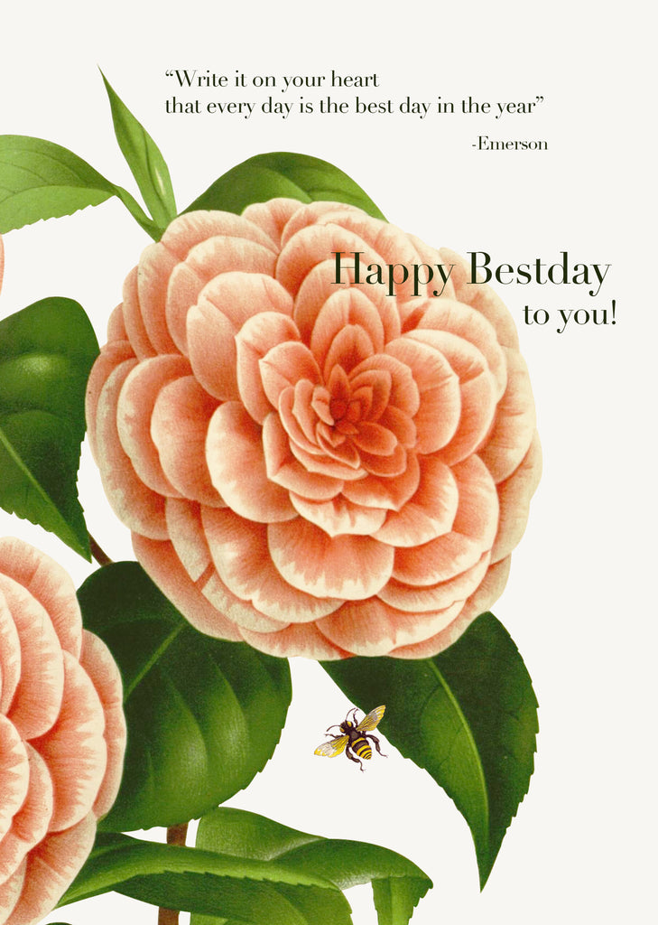 Write It On Your Heart ...Happy Bestday To You! • 5x7 Greeting Card