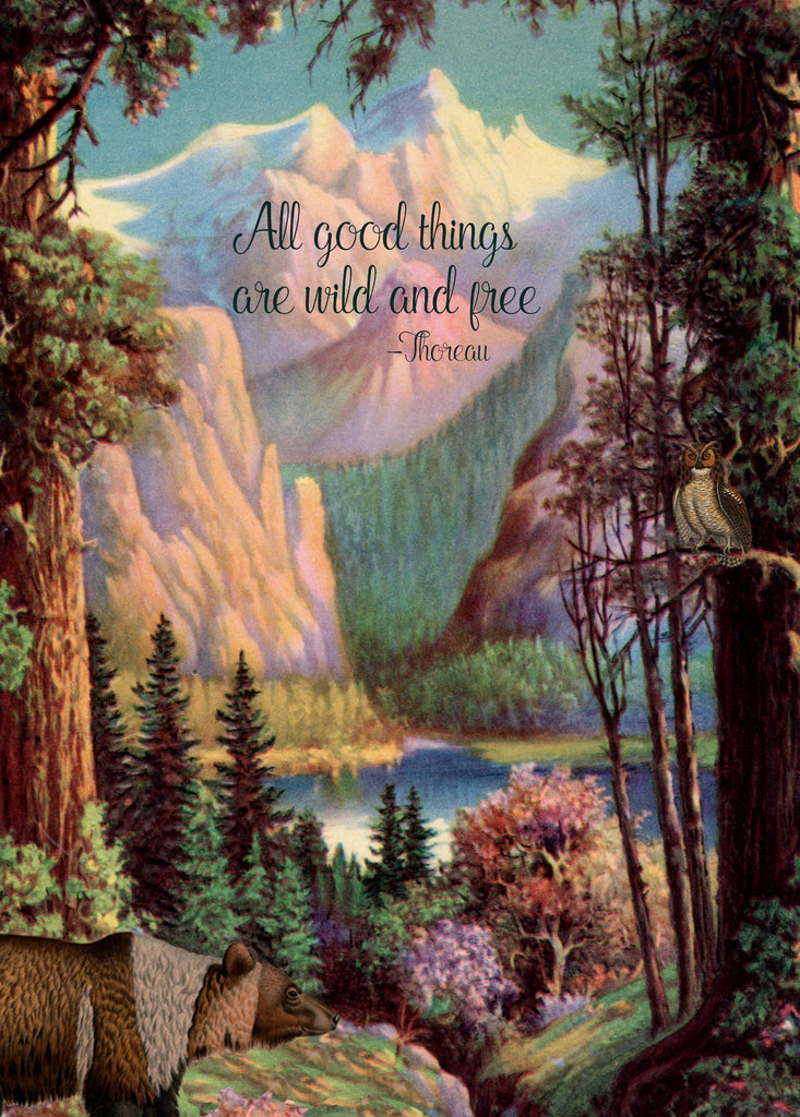All Good Things are Wild • 5x7 Greeting Card