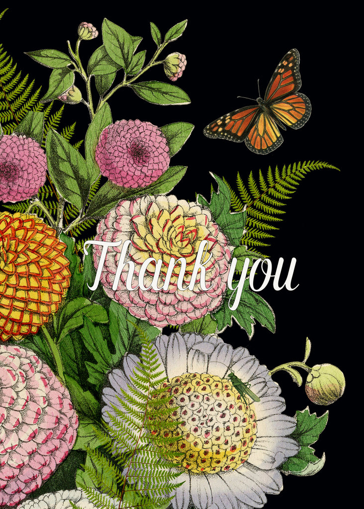 Thank You ( Dahlias) TYD • 5x7 Greeting Card