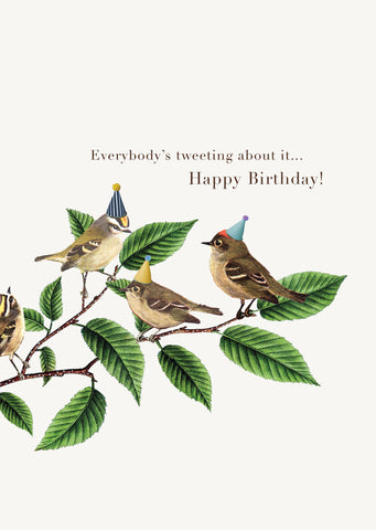 Everybody's Tweeting • 5x7 Greeting Card