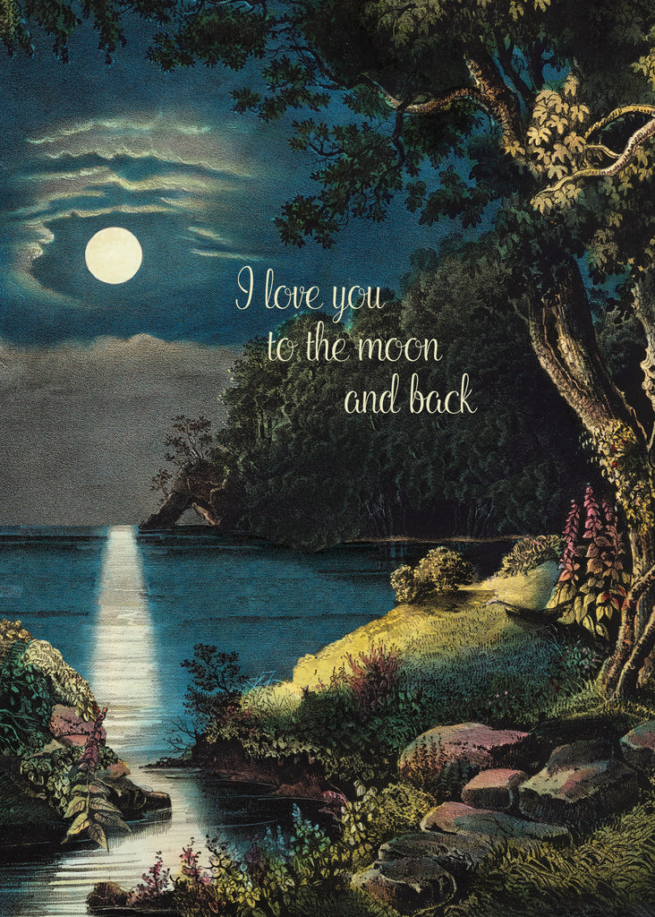 I Love You to the Moon • 5x7 Greeting Card