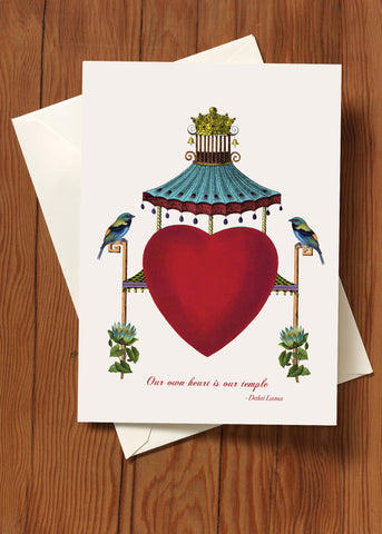 Our Own Heart Is Our Temple • 5x7 Greeting Card