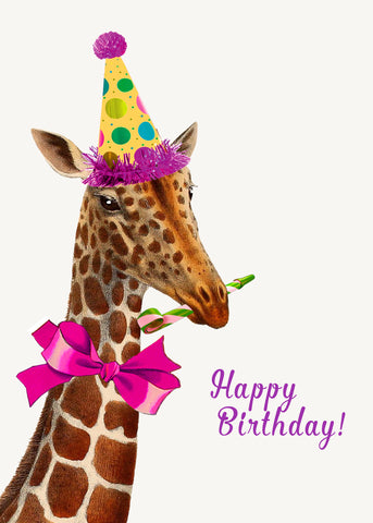 Happy Birthday (giraffe) • 5x7 Greeting Card