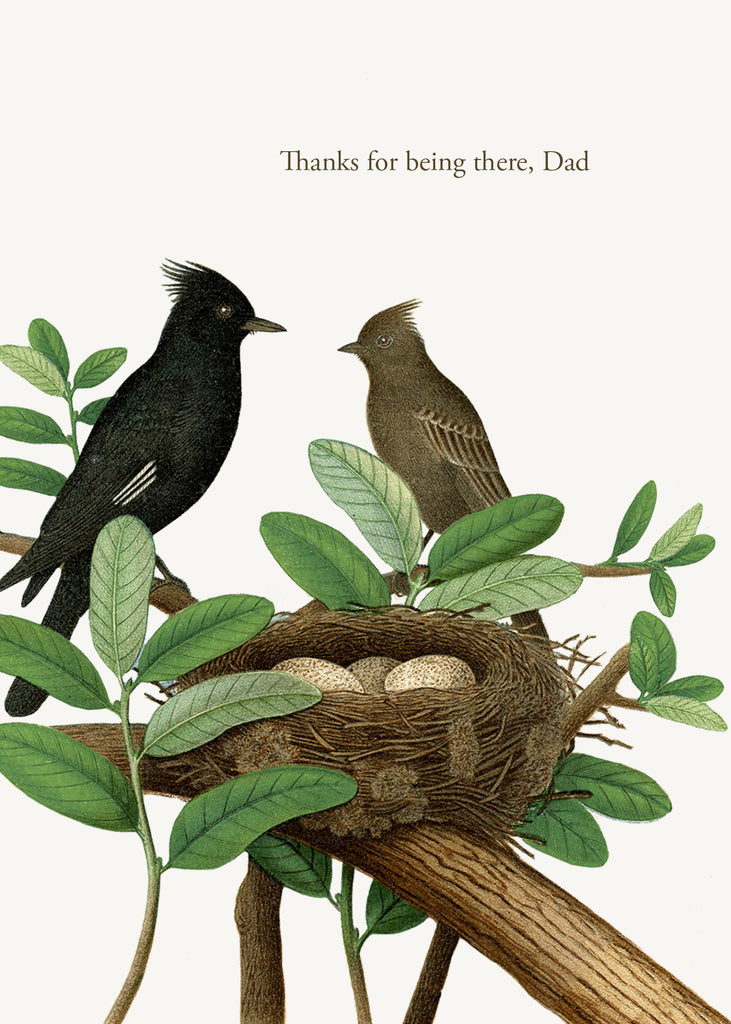 Thanks for being there, Dad • A-2 Greeting Card
