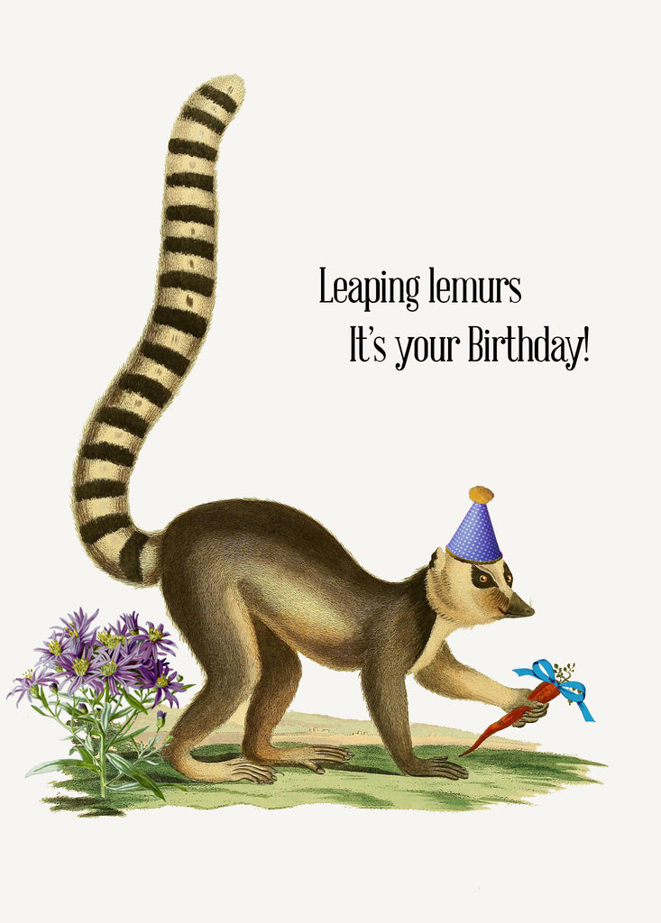 Leaping lemurs, it's your Birthday! • 5x7 Greeting Card
