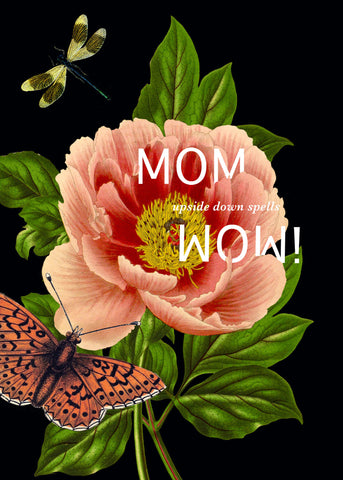 MOM upside down spells WOW! • 5x7 Greeting Card