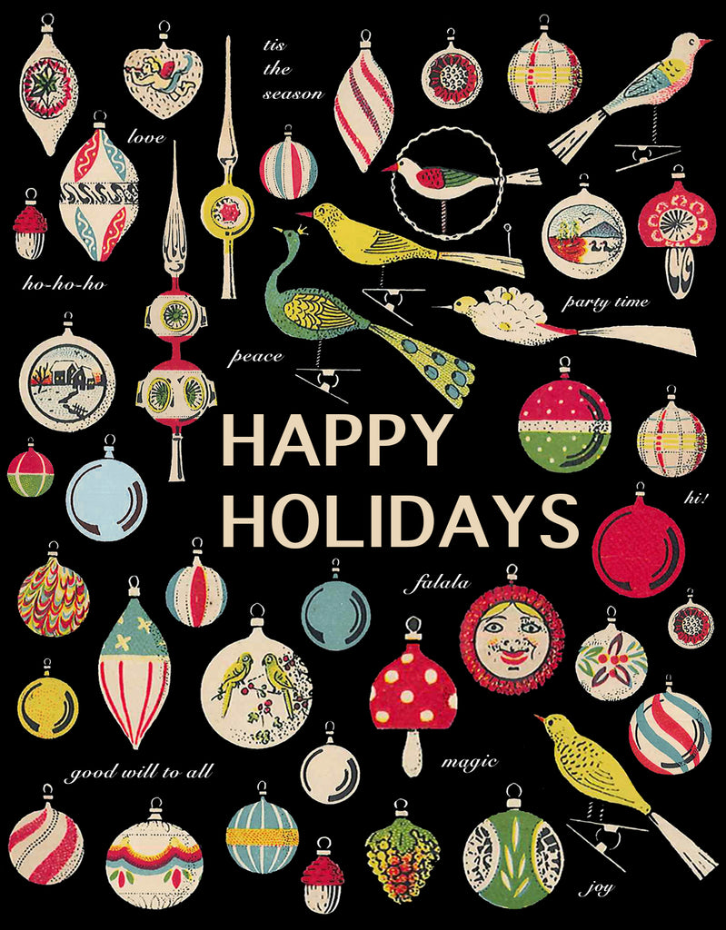 Happy Holidays Ornaments • A-2 Holiday Greeting Card
