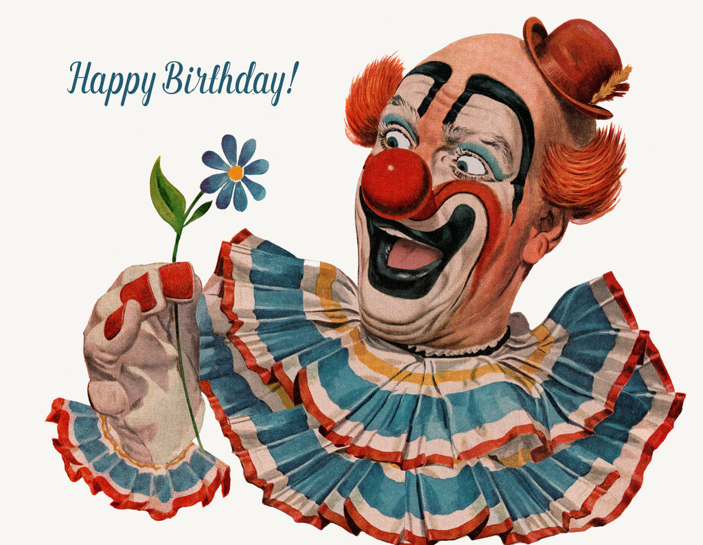Happy birthday clown • A-2 Greeting Card