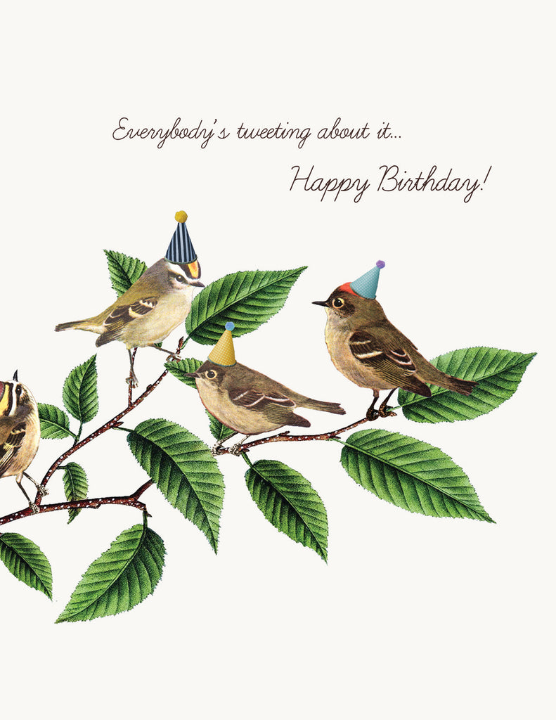 Everybody's tweeting • A-2 Greeting Card
