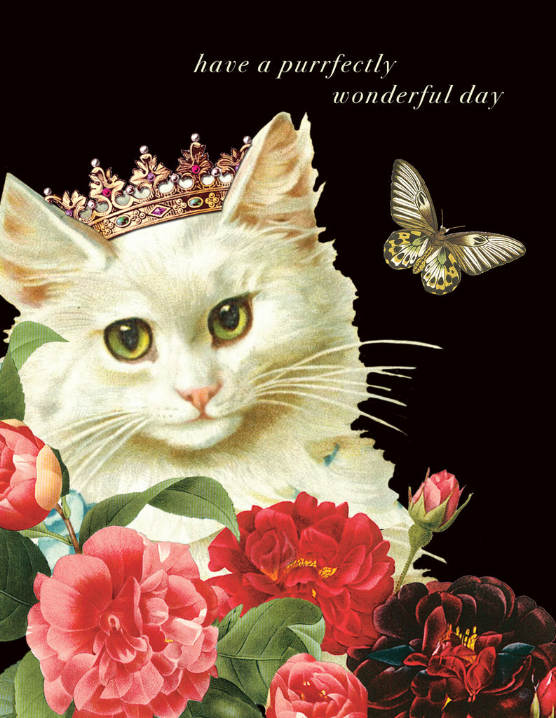 Have a A Purrfectly Wodnderful Birthday • A-2 Greeting Card
