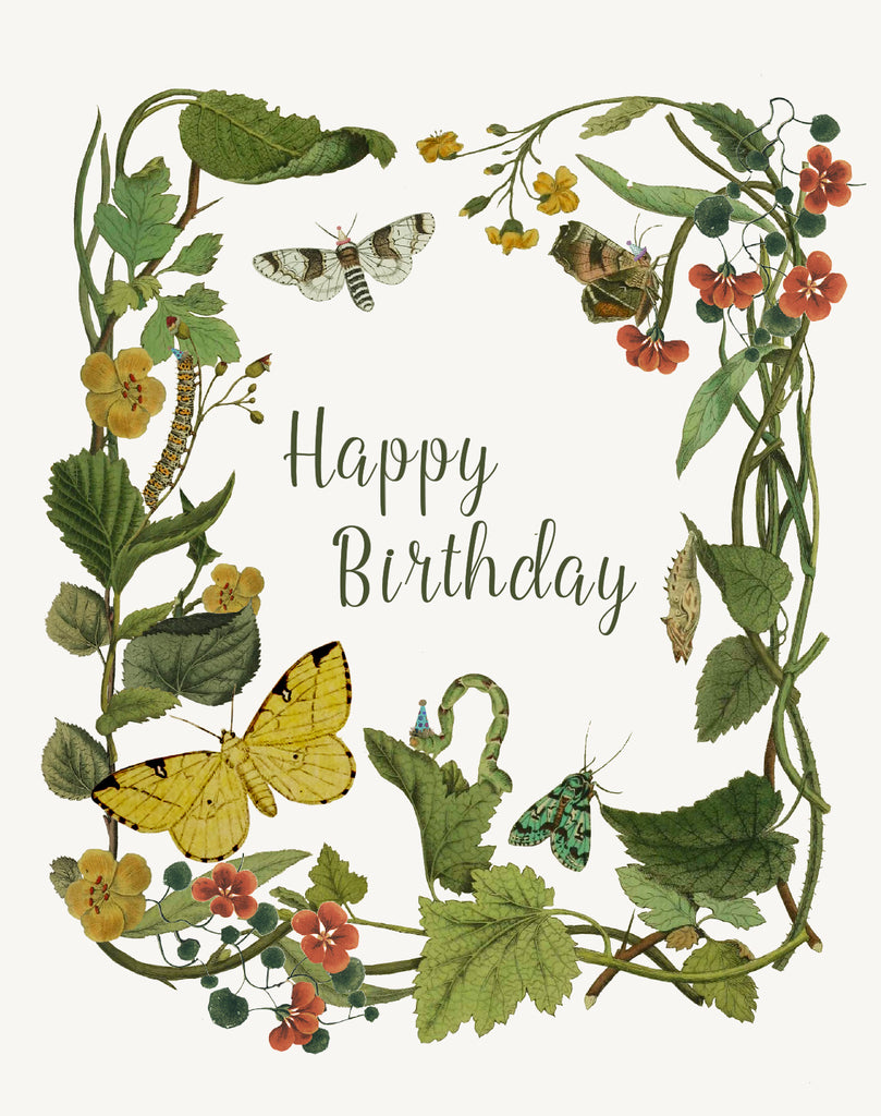 Happy Birthday ( leaves) • A-2 Greeting Card