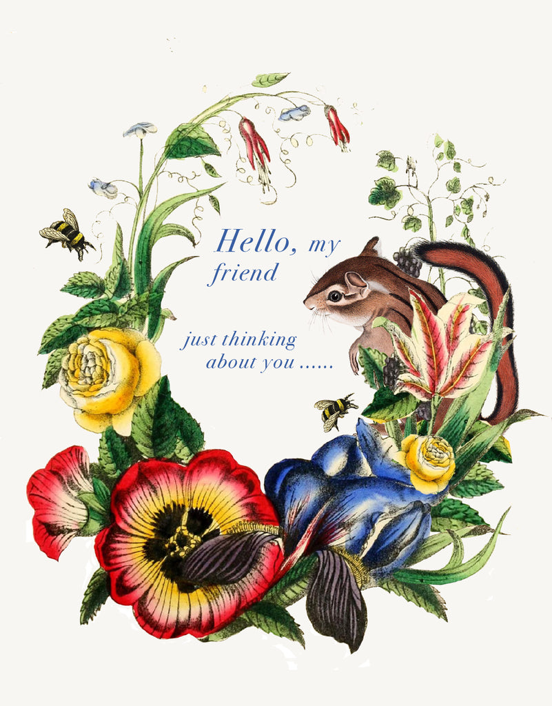 Hello, My Friend • A-2 Greeting Card