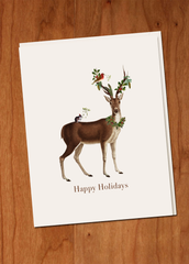 Happy Holidays Deer • Holiday Boxed Greeting Cards