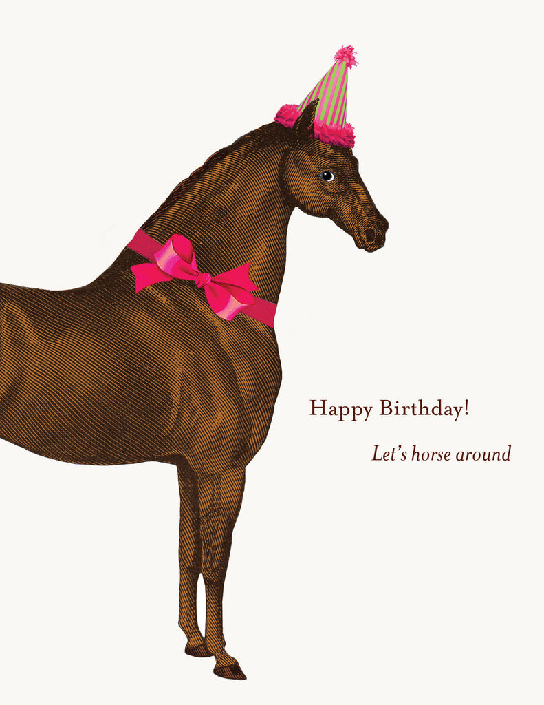 Let's horse around • A-2 Greeting Card
