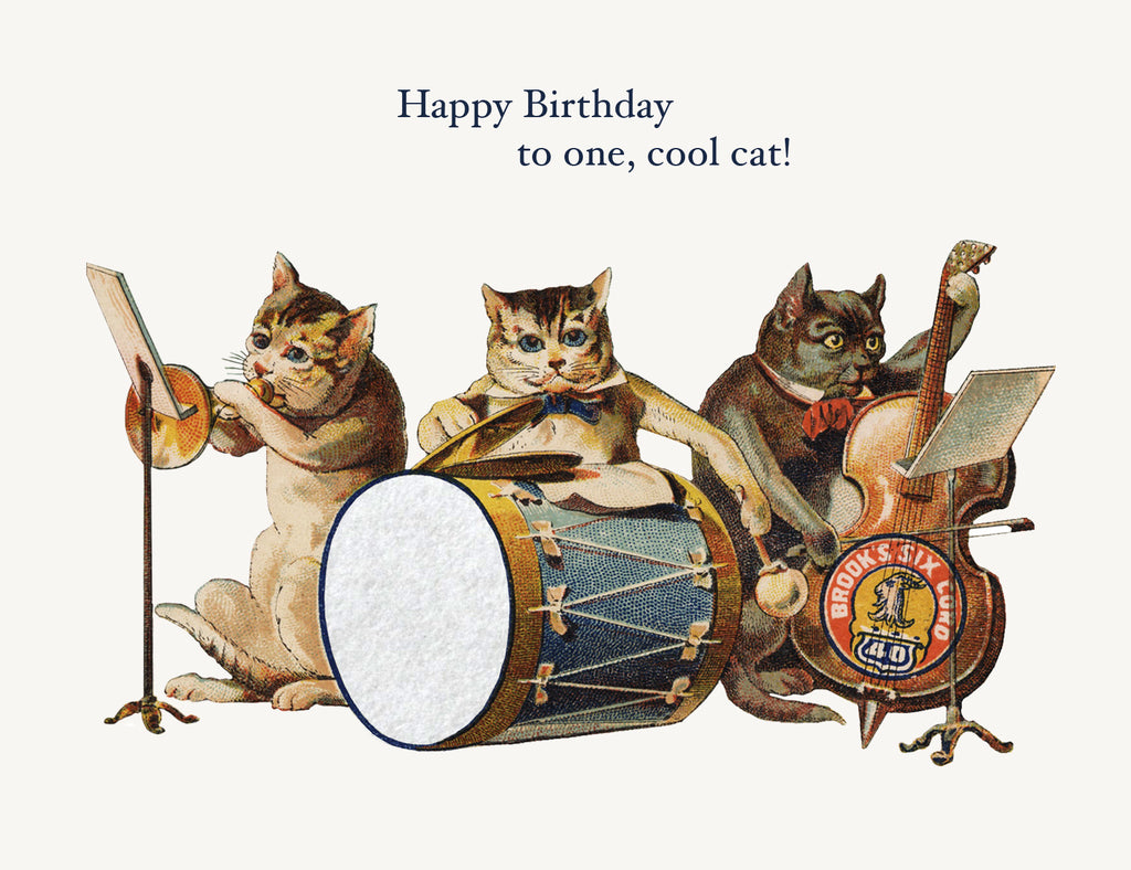 Happy Birthday To One Cool Cat A-2 Greeting Card