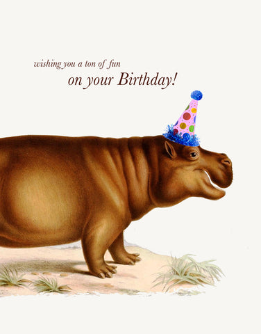 Wishing You a Ton of Fun on Your Birthday! • A-2 Greeting Card