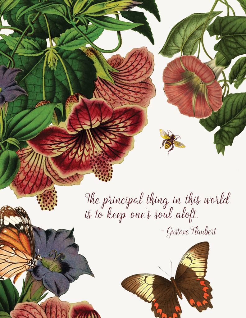 The Principle Thing In This World Is to Keep One's Soul Aloft • A-2 Greeting Card