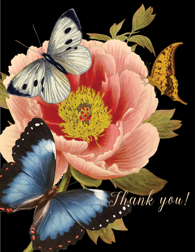 Thank you (butterfly) • A-2 Greeting Card