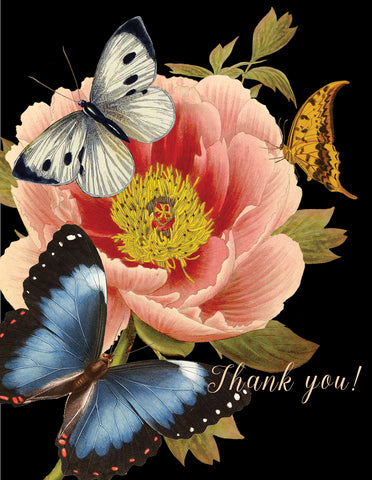 TYBB Thank you (blue butterfly) • A-2 Greeting Card