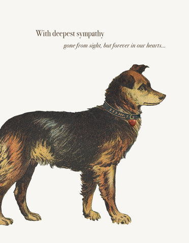 With Deepest Sympathy Dog • A-2 Greeting Card