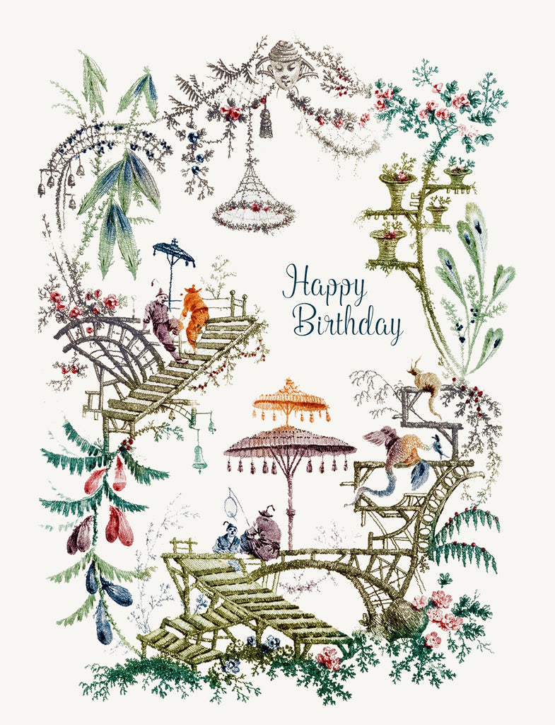 Chinoiserie - Happy Birthday • 5x7 Greeting Card
