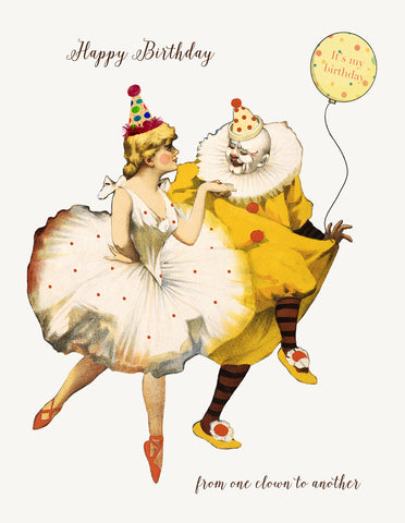 From one clown to another • A-2 Greeting Card