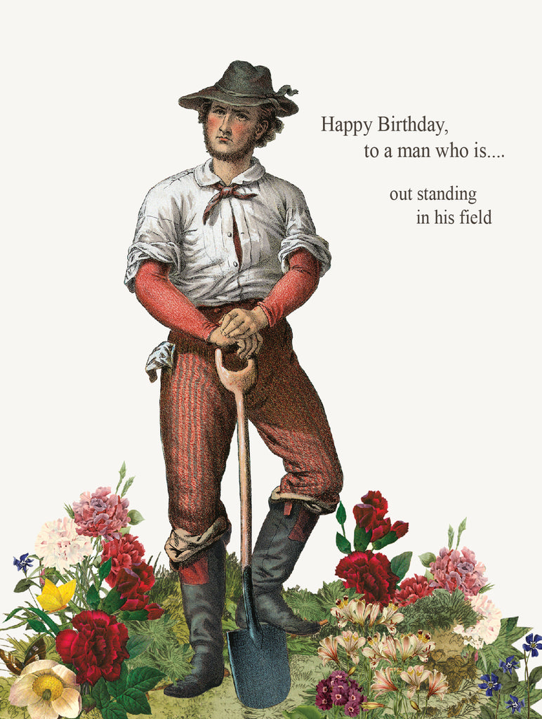 Happy Birthday to a man • A-2 Greeting Card