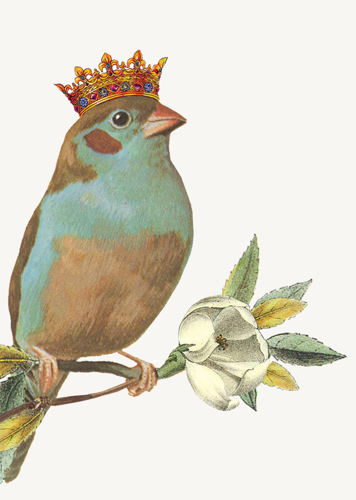 Bird with Crown • Mini Card