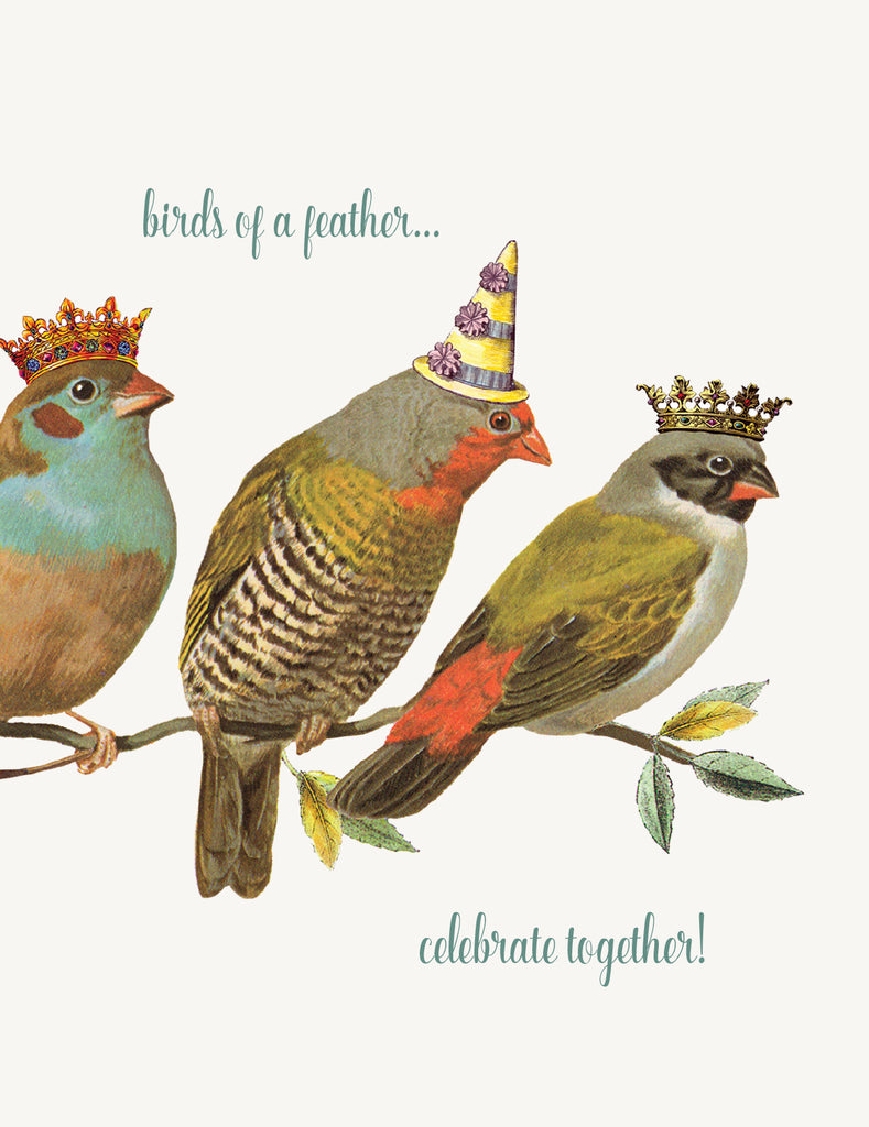 Birds of a feather  • A-2 Greeting Card