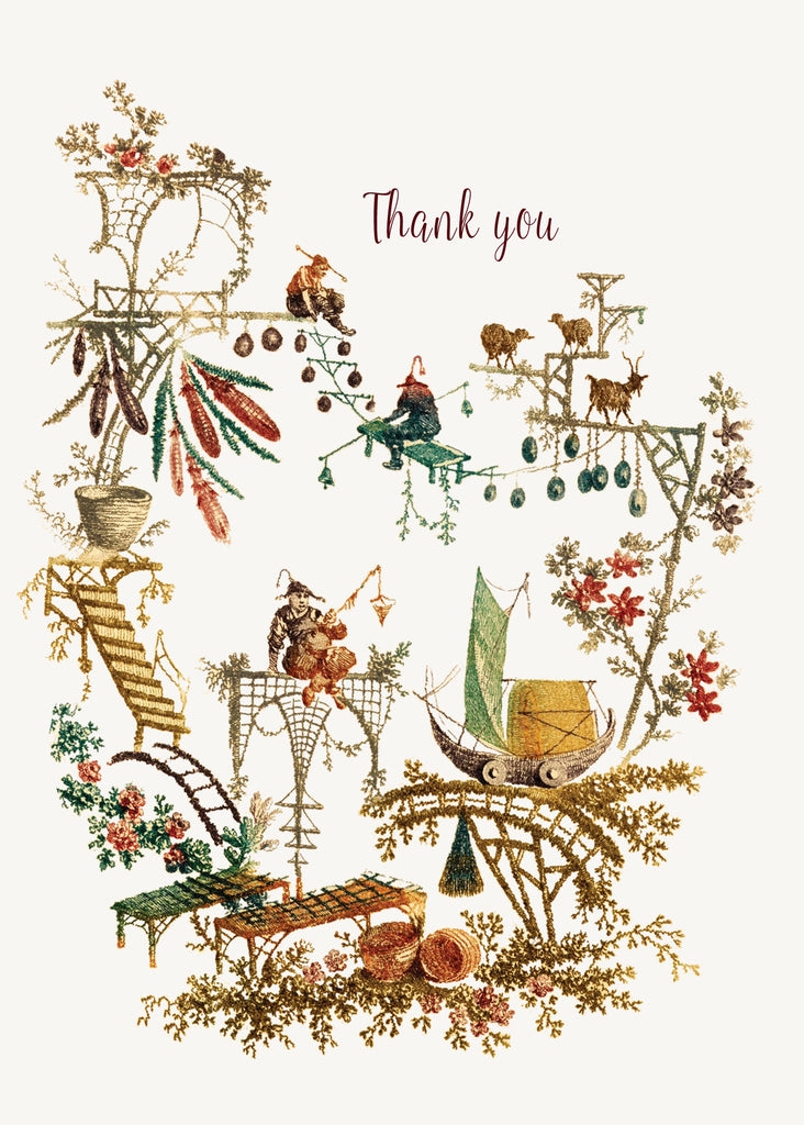 Chinoiserie - Thank You • 5x7 Greeting Card