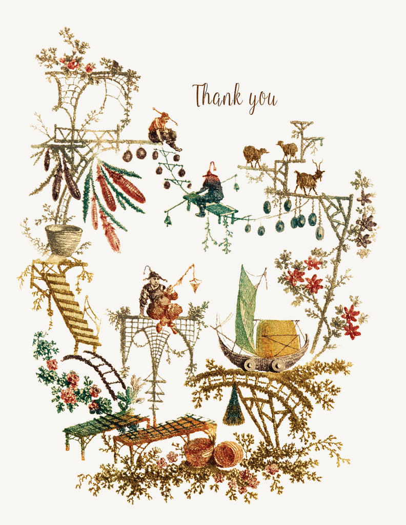 Chinoiserie - Thank You • A-2 Greeting Card