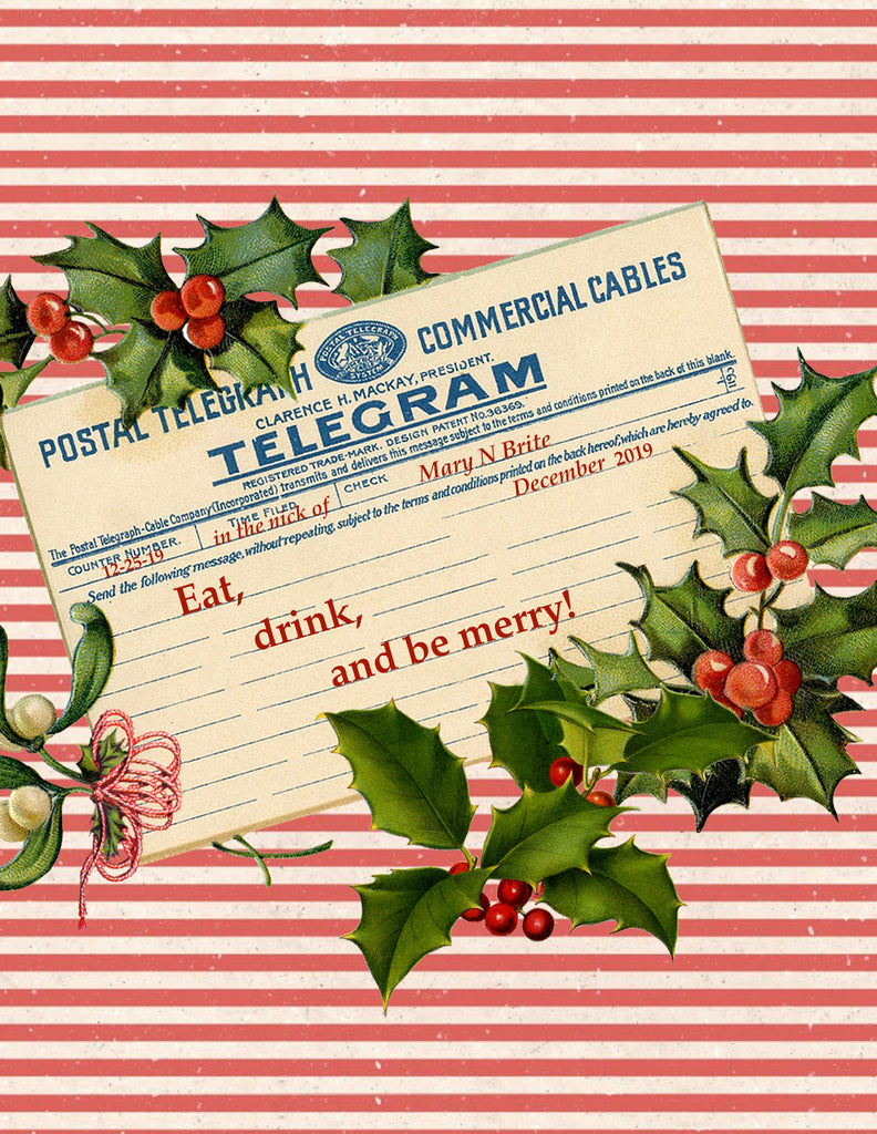 Eat, drink and be merry! • Holiday Boxed Greeting Cards