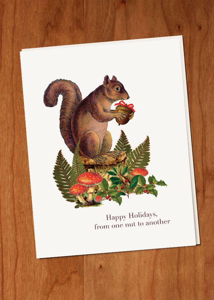 From one nut to another • Holiday Boxed Greeting Cards