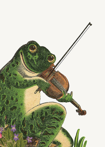 Frog with Violin • Mini Card