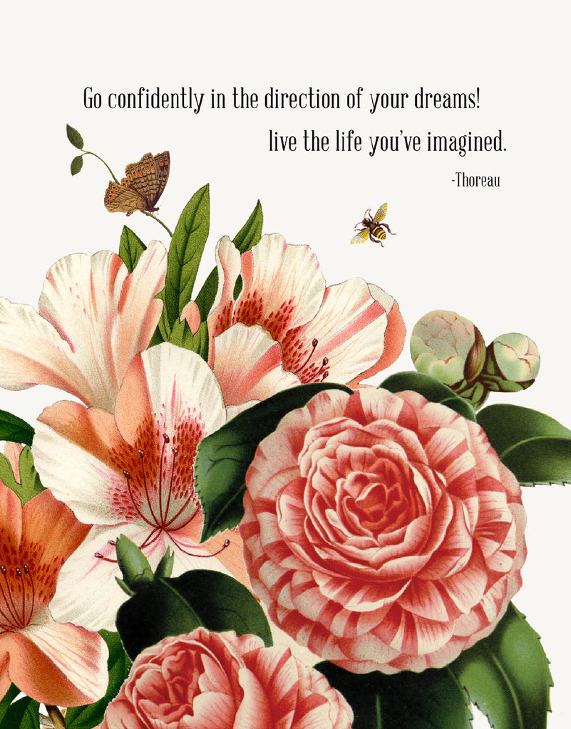 Go confidently in the direction • 5x7 Greeting Card
