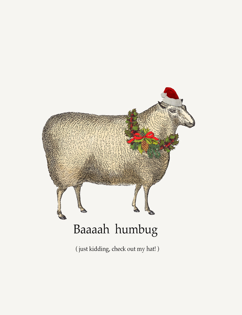 Baaaah Humbug • A-2 Holiday Greeting Card