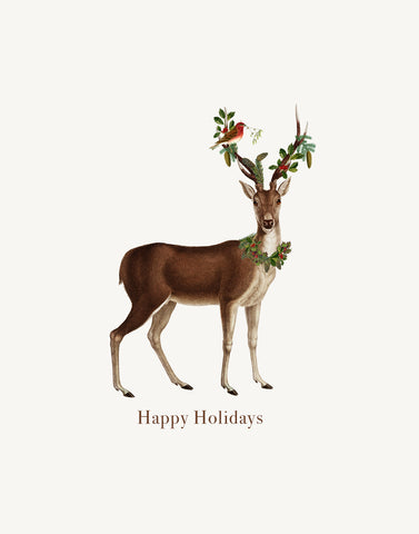 Happy Holidays ( deer)• A-2 Holiday Greeting Card