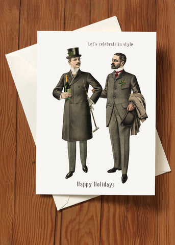 Let's Celebrate in Style • 5x7 Holiday Greeting Card