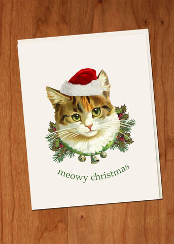 Meowy Christmas Cat • A-2 Holiday Greeting Card