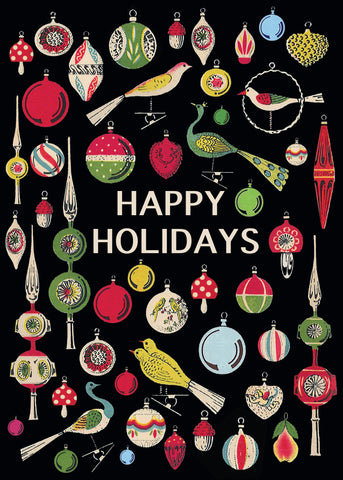 Happy Holidays Ornaments • 5x7 Holiday Greeting Card