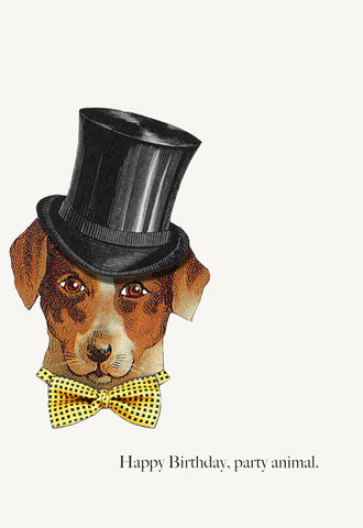 Party Animal Dog • 5x7 Greeting Card
