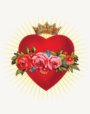 Red Heart/ w/crown • A-2 Greeting Card