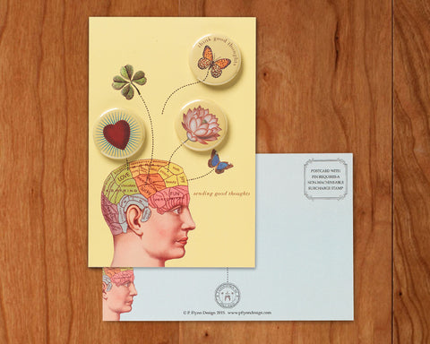 Sending Good Thoughts • Postcards with Magnets