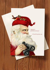 Someone's Got Their Eye On You • 5x7 Holiday Greeting Card